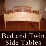 Bed and Twin Side Tables