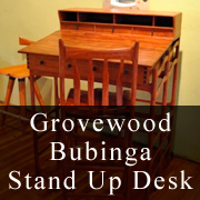 Grovewood Bubinga Stand Up Desk