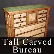Tall Carved Bureau