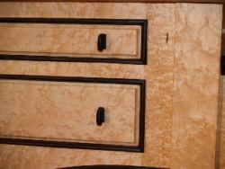 Morgantown Desk Drawer Detail with Ebony Wrap