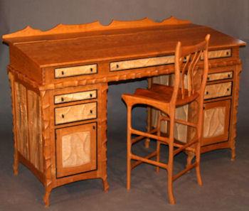 Carved Stand Up Desk ...