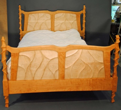 Sculpted Queen Bed